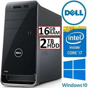 REFURB DELL XPS TOWER DESKTOP PC - 111288655 - INTEL i7-6700 3.4GHz 16GB RAM 2TB HDD GTX 745 WIN10 MOUSE KEYBOARD COM...