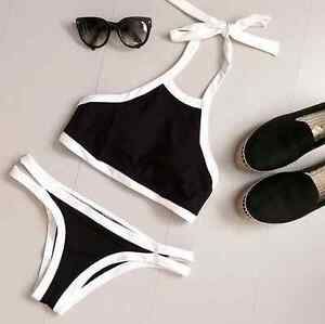 Brand new white & black high neck bikini. Available in S, M, L Kitchener / Waterloo Kitchener Area image 1