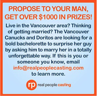 Vancouver Casting Call: Seeking Females who wants to get engaged