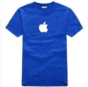 Apple Logo Store Sale Employee Blue High Quality Tee T Shirt XL 100% Cotton!