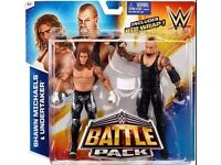 WWE figures - New, boxed, Battle pack Shawn Michaels & Undertaker with RIB wrap