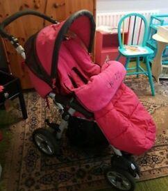 Pink Jané nomad pushchair
