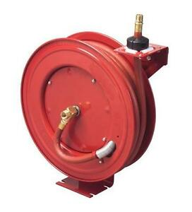 NEW METAL AIR HOSE REEL 100FT / OXY ACETYLENE TWIN WELDING HOSE REEL RETRACTABLE