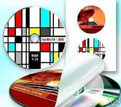 200 CD DVD Etiketten Label  + gratis Zentrierhilfe  Fachhandel Neu