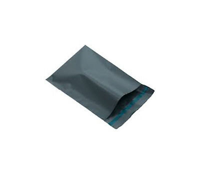 20 x GREY PLASTIC MAILING BAGS SIZE 6 x 9
