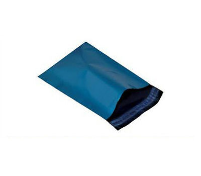 10 BLUE PLASTIC MAILING BAGS - SIZE 12x16