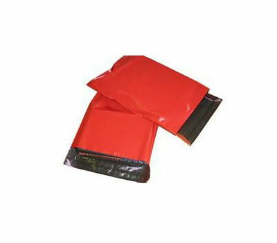 """100 RED Mailing / Postage Bags - SIZE 6 x 8"""" / 150x200mm"""