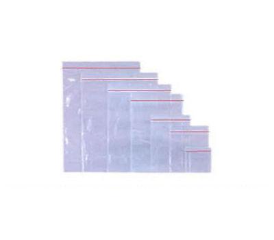 "50 PLASTIC GRIP SEAL BAGS - SIZE 7.5x7.5"" / 190x190mm - PLAIN"