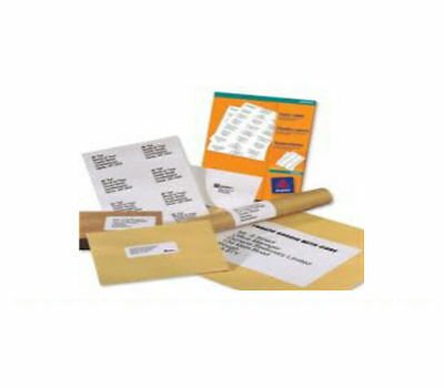 1000 A4 Size Sheets Of White Printer / Laser Labels - 6 Per Page