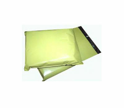 1000 YELLOW Plastic Mailing Bags - SIZE 14 x 20