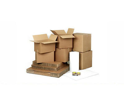 100 Boxes MOVING / REMOVAL Kit Pack + TAPE, TISSUE, BUBBLE WRAP Etc