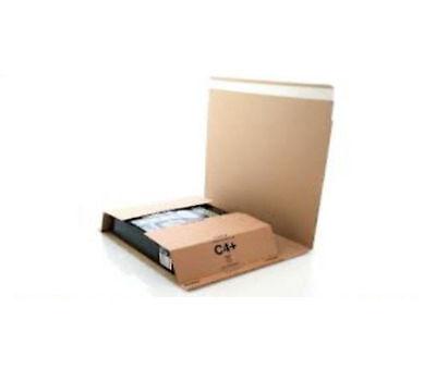 5 x C4 BOOK BUK WRAP MAILING POSTAL CARDBOARD BOXES 9.5 x 13