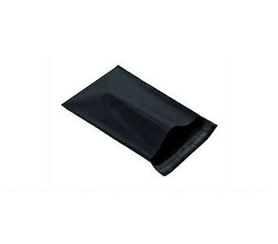 50 BLACK PLASTIC POSTAGE BAGS - SIZE 6x8