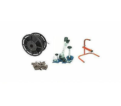 Manuel Pallet Strapping Kit / Pack - 12mm Coil, Multi Tool, Seals + Stand