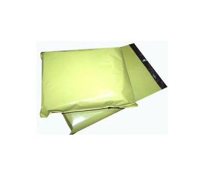 200 YELLOW Plastic Mailing Bags - SIZE 14 x 20