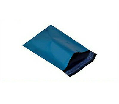 50 BLUE PLASTIC MAILING BAGS - SIZE 17x21