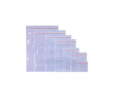 "200 PLASTIC GRIP SEAL BAGS - SIZE 15x20"" / 380x505mm - PLAIN"
