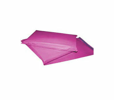 100 PINK PLASTIC MAILING BAGS SIZE 17x24