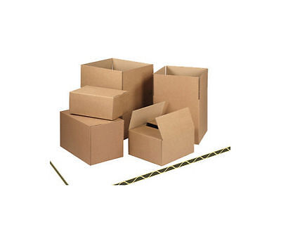 500 Cardboard Shipping Postal Boxes 150x150x150mm