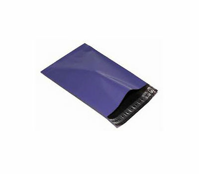 10 Plastic Mailing Bags PURPLE - SIZE 6 x 9
