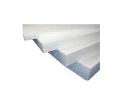 6 WHITE POLYSTYRENE FOAM SHEETS EPS70 SIZE 2400 x 1200 x 50mm SDN INSULATION