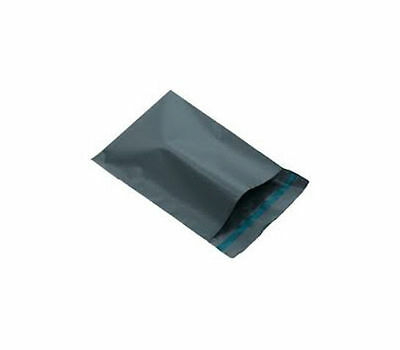 200 x GREY PLASTIC PACKING BAGS SIZE 12 x 16