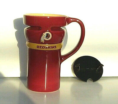 WASHINGTON REDSKINS Tall COFFEE travel MUG with lid NFL FOOTBALL Drink ware -