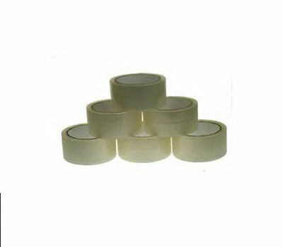 """2 Rolls Of 2"""" CLEAR Packaging Tape - SIZE 48mm x 66m"""
