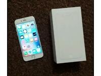 Apple iPhone 6 16gb silver o2 giffgaff very good spotless condition with box and accessories