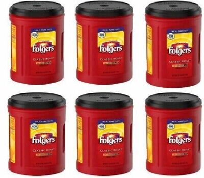 Folgers Classic Roast Ground Coffee 51 OZ Each Pack of 6 ()