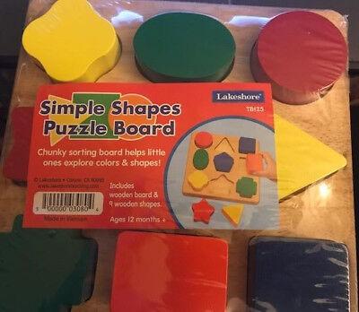 Lakeshore Simple Shapes Puzzle Board  Shape Puzzle Board