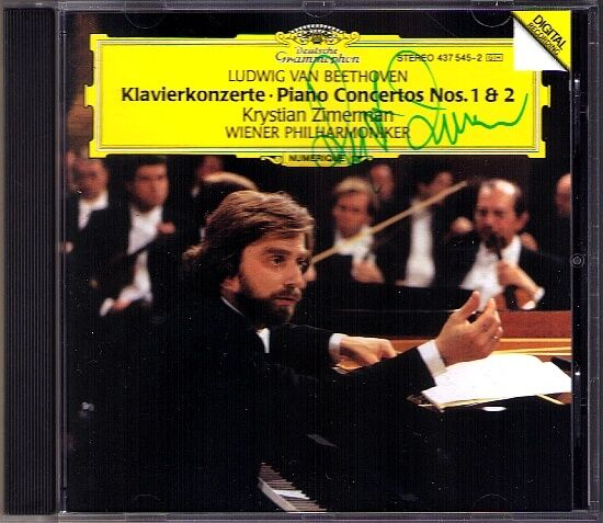 Krystian ZIMERMAN Signiert BEETHOVEN Piano Concerto No.1 & 2 Klavierkonzerte CD