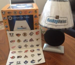 Hockey Rules Table Lamp For Sale