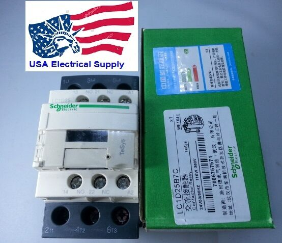 LC1D25B7C Schneider Contactor  Coil 24VAC 50/60Hz