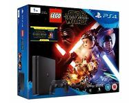 SONY PS4 SLIM 1TB - WITH 1 GAME/MOVIE (LEGO STAR WARS & FORCE AWAKENS BLURAY) - NEW SEALED £240