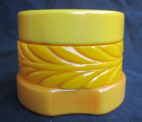 Golden Yellow BUTTERSCOTCH BANGLE Bracelets ~ lot of 3