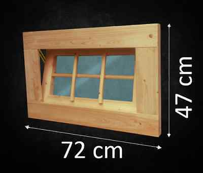 Kippfenster Holzfenster Gartenhaus Gartenhausfenster Carport Garagenfenster NEU+