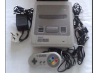 super nintendo console one controller plus sd2snes cartridge £135