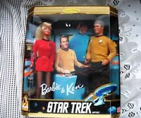 STAR TREK COMMEMORATIVE   1996 BARBIE & KEN DOLLS NEW IN BOX