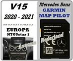 MERCEDES Garmin Map Pilot SD Kaart 2021 A B CLA Update V15