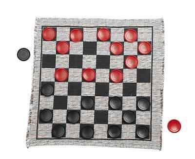 New Jumbo Checker Rug Game Checkers Kids Games Mat Play Fun Machine Washable