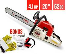 """NEW Baumr-AG 62cc Petrol Commercial Chainsaw 20"""" Bar Chain Saw Gosnells Gosnells Area Preview"""