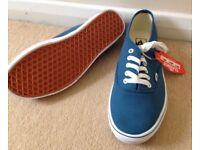 Mens vans blue - new - size 10
