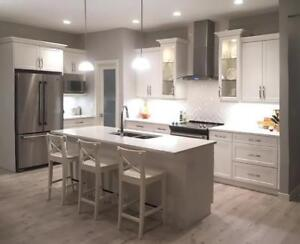 Kitchen Renovations. Custom Counter tops. Cabinets and  Bathrooms. Kitchen Crafters -Free Design!