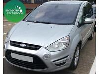 £204.73 PER MONTH SILVER 2011 FORD S-MAX 2.0 TITANIUM 5 DOOR DIESEL MANUAL