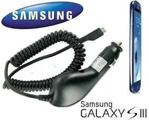 Genuine Samsung In Car Charger for Samsung Galaxy SIII S3