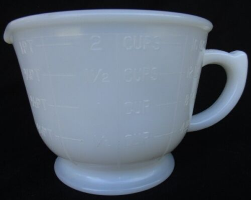 Spry MEASURING and MIXING CUP 1 PT - 2 CUPS - 16 OZ Opalescent ~ Reamer Pitcher