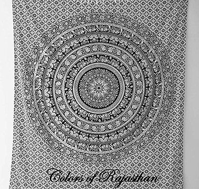Indian Elephant Hippie Wall Hanging Mandala Tapestry ...