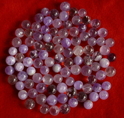 100 NATURAL PURPLE AMETHYST QUARTZ CRYSTAL SPHERES BALL HEALING Wholesales Price
