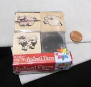 Farm Animal Rubber Stamps